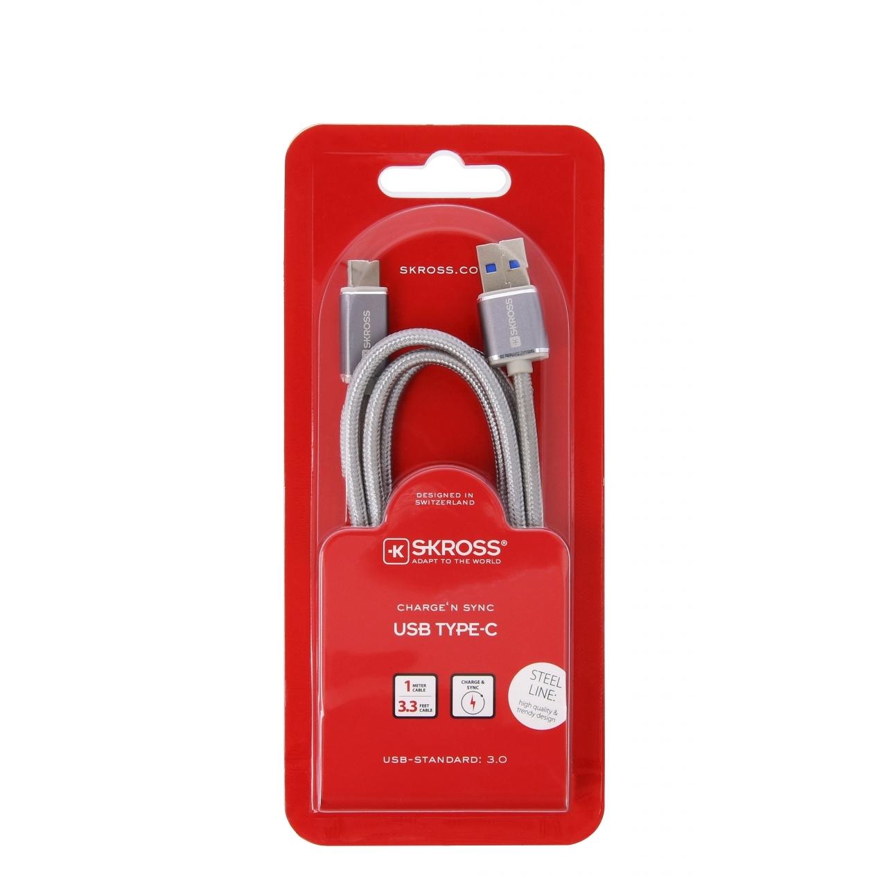 Kabel Skross Chargen Sync USB na USB Typ C