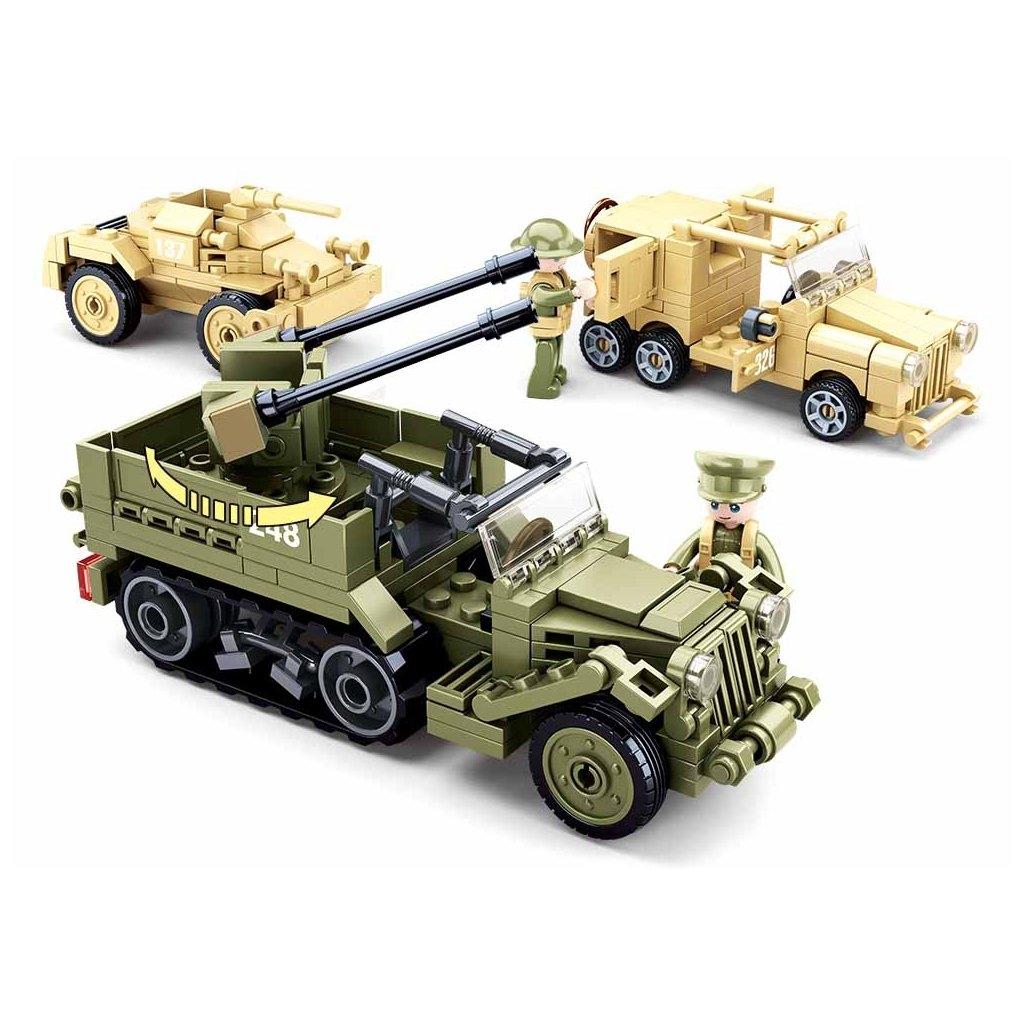 Stavebnice Sluban Army Vojenská vozidla M38-B0812
