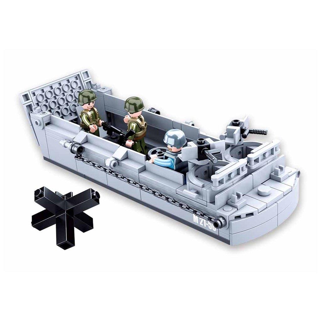 Stavebnice Sluban Army Vyloďovací člun M38-B0855
