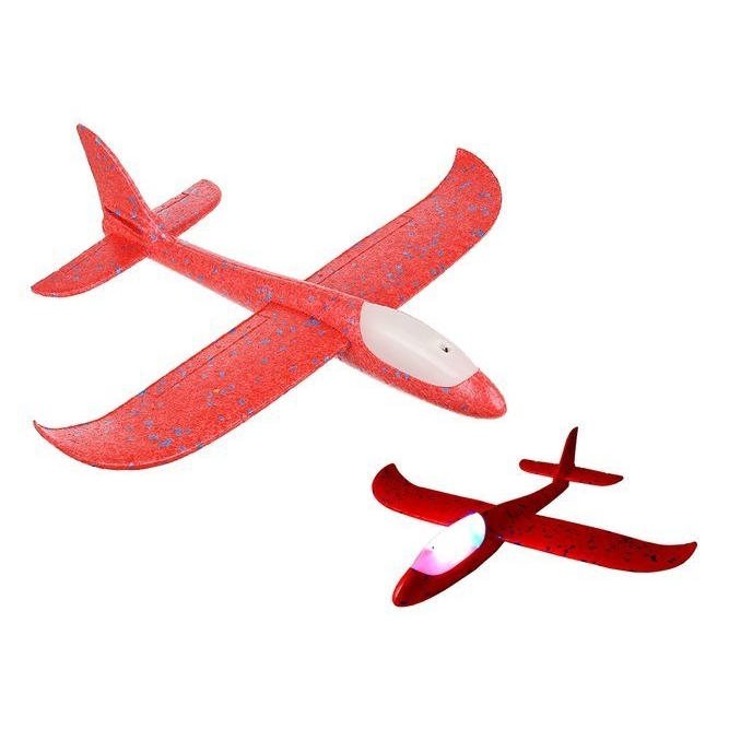 Polystyrenové letadlo Blue Glider LED - červené