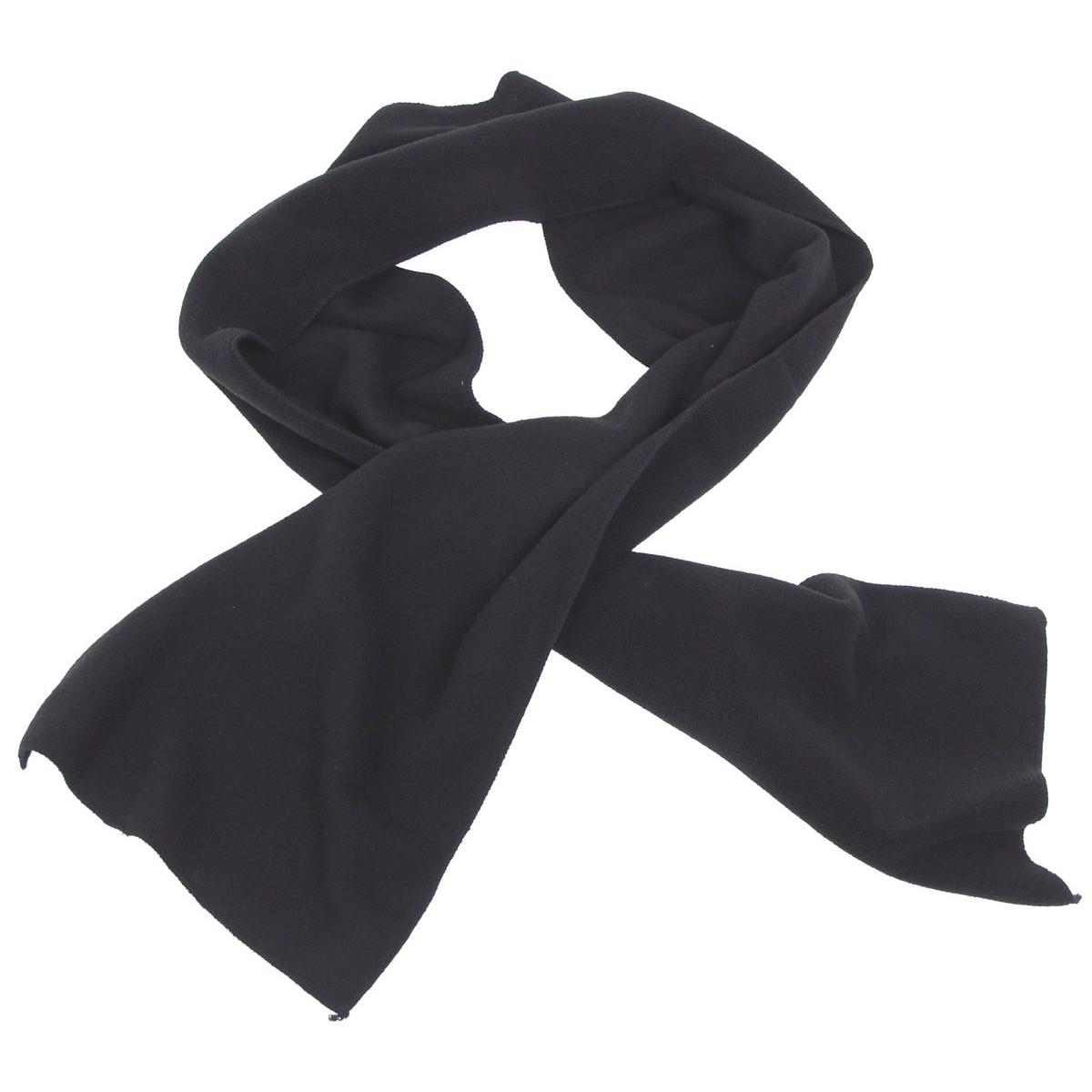 Šála fleecová - černá