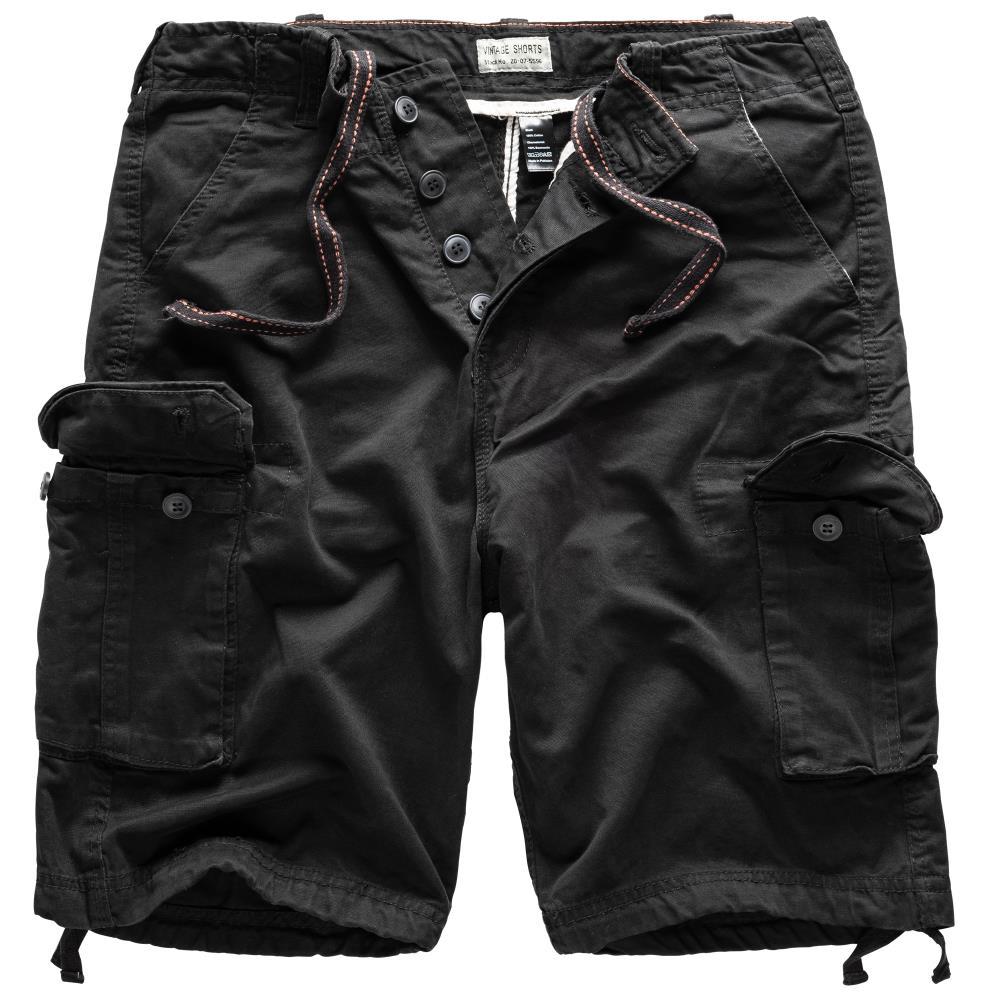 Krátké kalhoty Vintage - černé