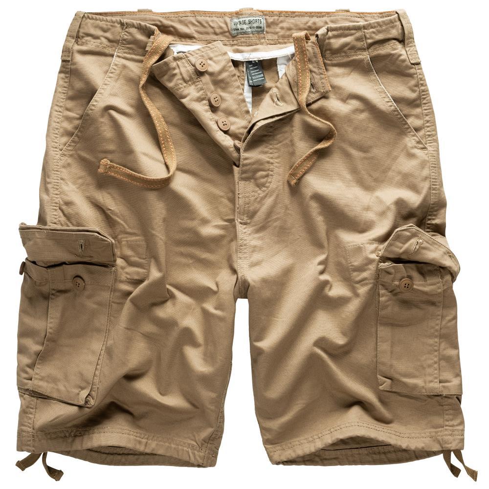 Krátké kalhoty Vintage - béžové