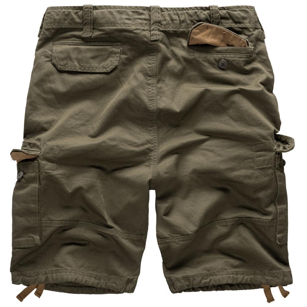Krátké kalhoty Vintage - olivové