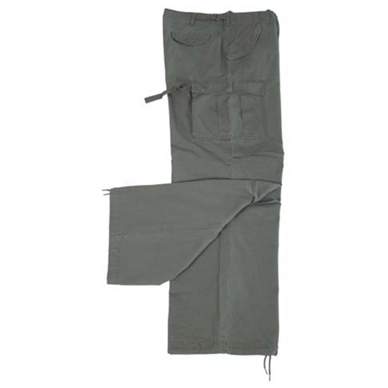 Kalhoty M65 RS stonewashed - olivové