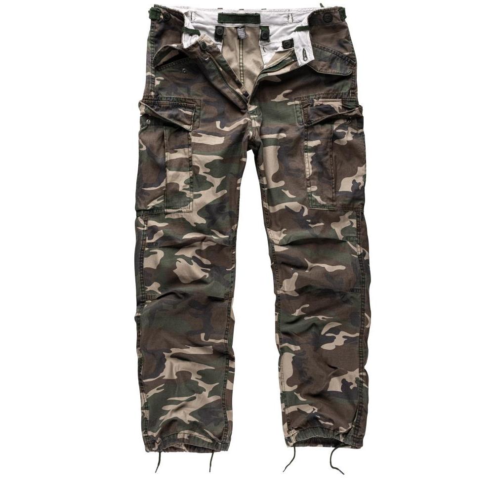 Kalhoty Vintage Fatigues M65 - woodland