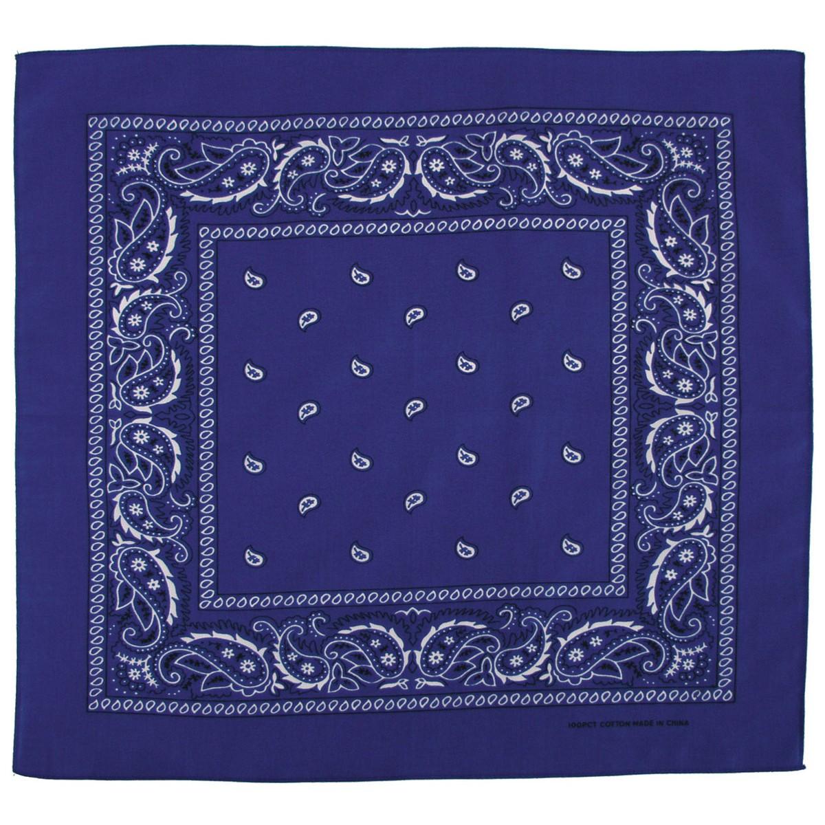 Bandana šátek - modrý