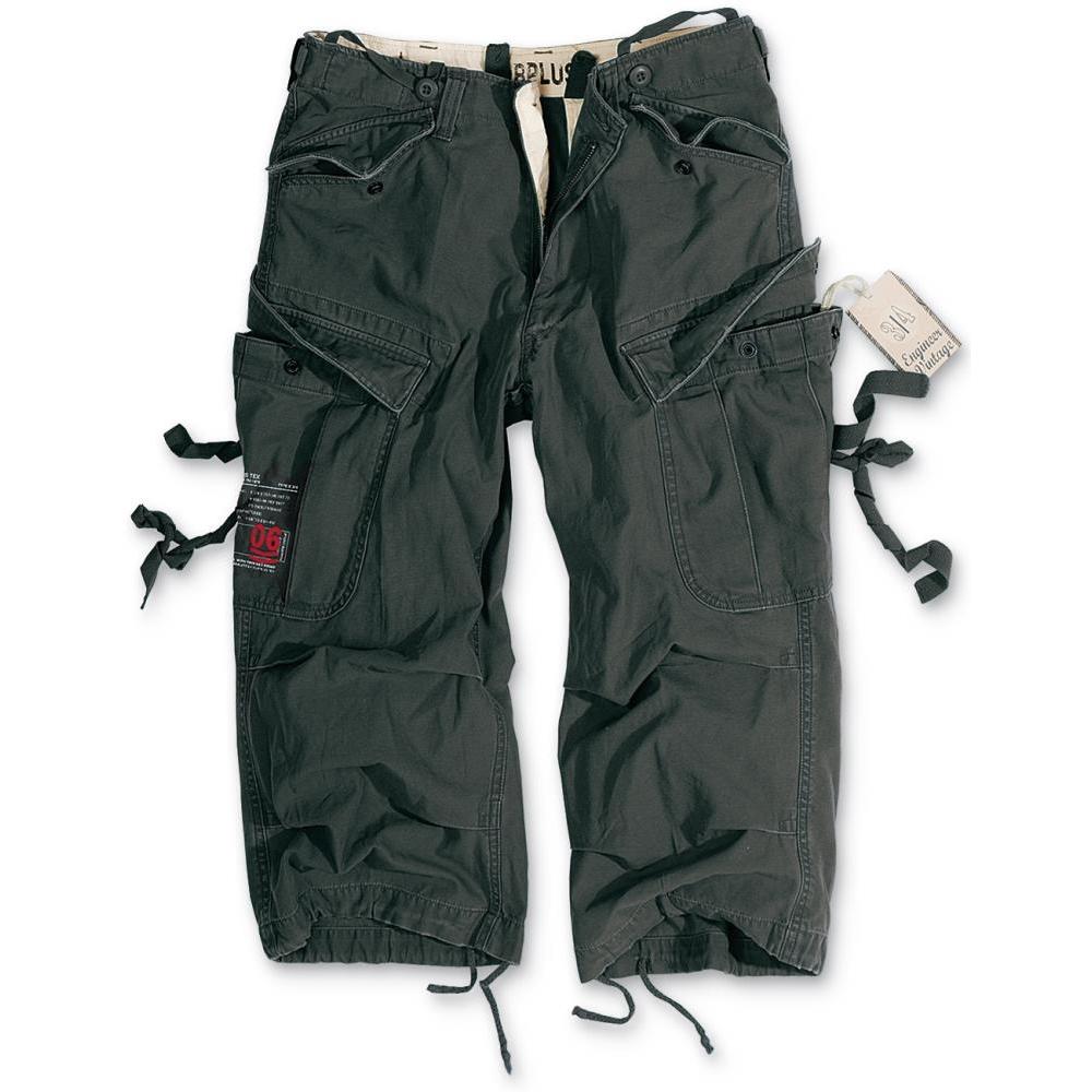 3/4 kalhoty Engineer Vintage - černé