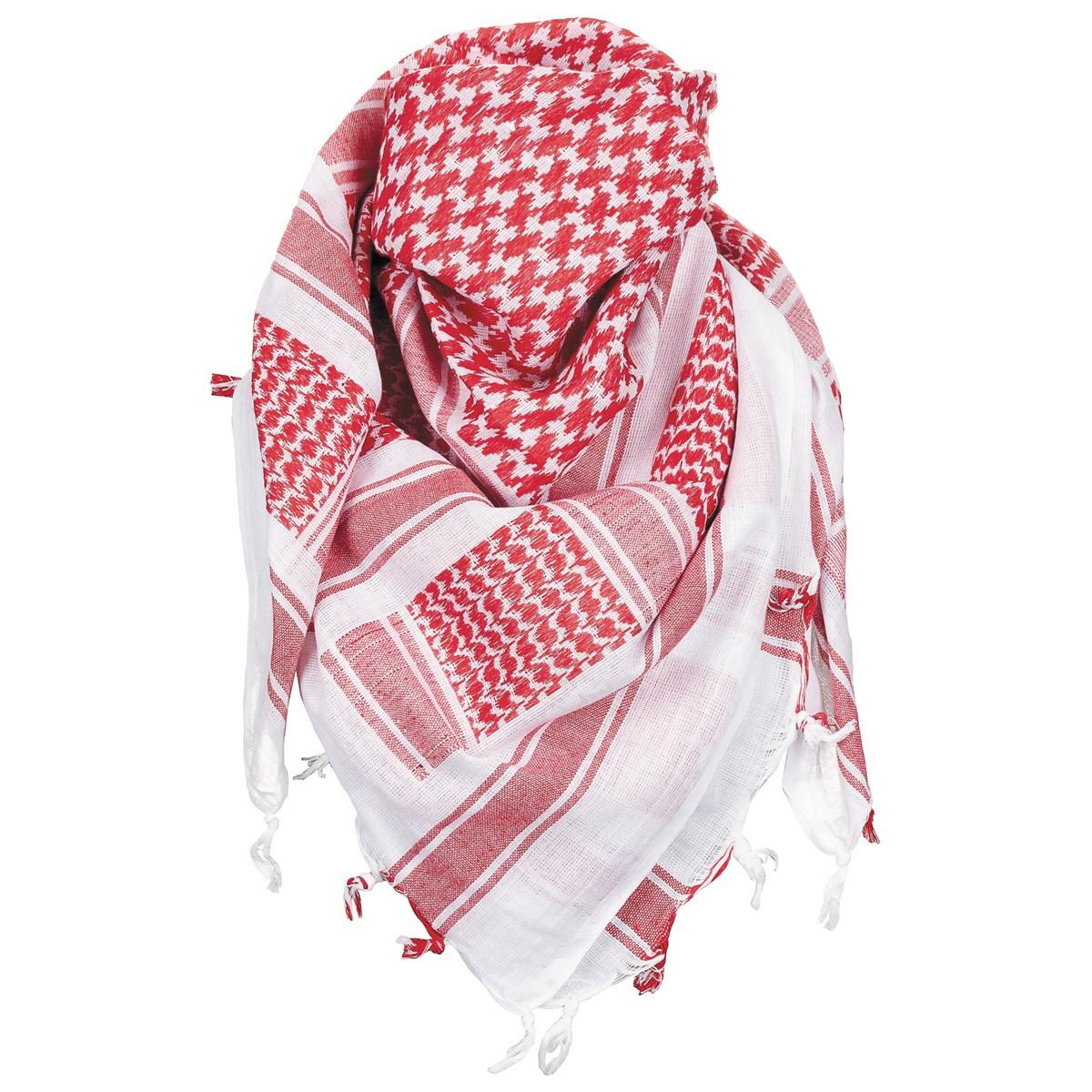 Šátek Shemagh MFH - červený-bílý