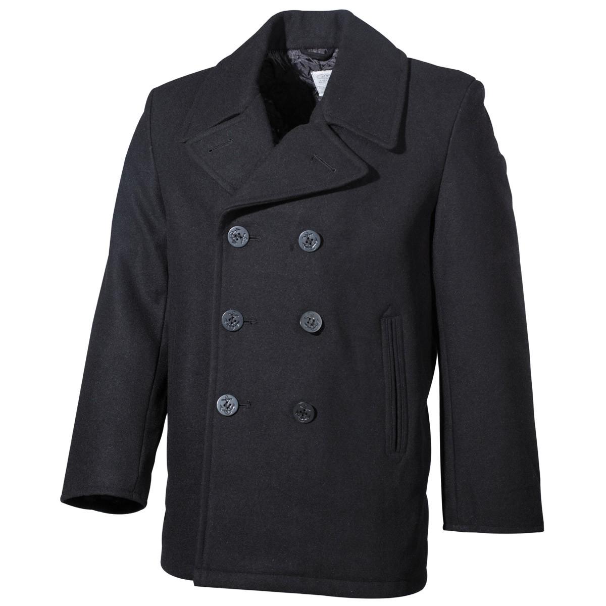 US Pea Coat MFH - černý