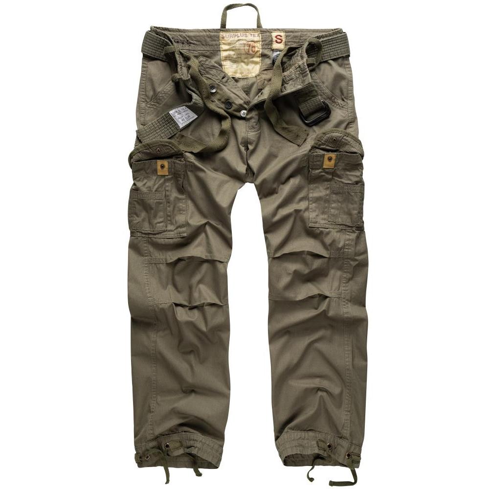 Kalhoty Premium Vintage - olivové