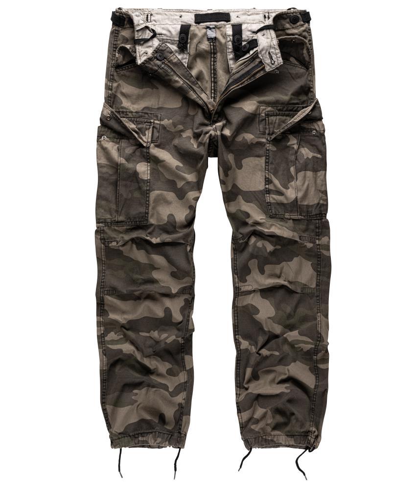 Kalhoty Vintage Fatigues M65 - blackcamo