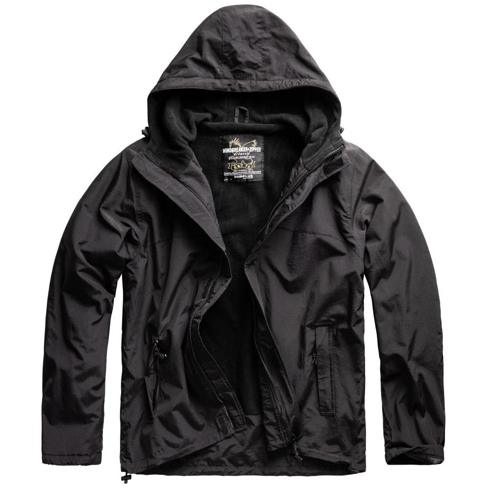 Bunda Windbreaker Zipper - černá