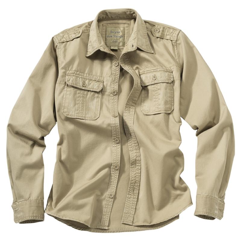 Košile Raw Vintage dlouhý rukáv - béžová
