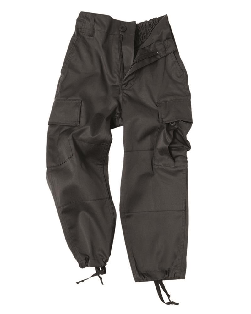 Kalhoty dětské US BDU - černé