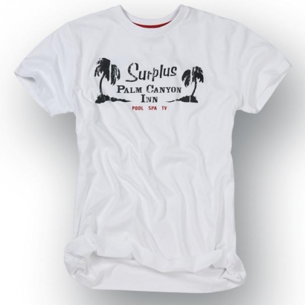 Tričko Surplus Palm - bílé