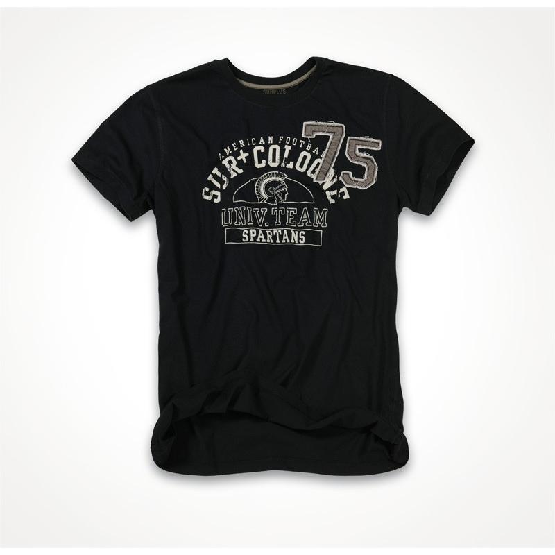 Tričko Surplus Spartans - černé