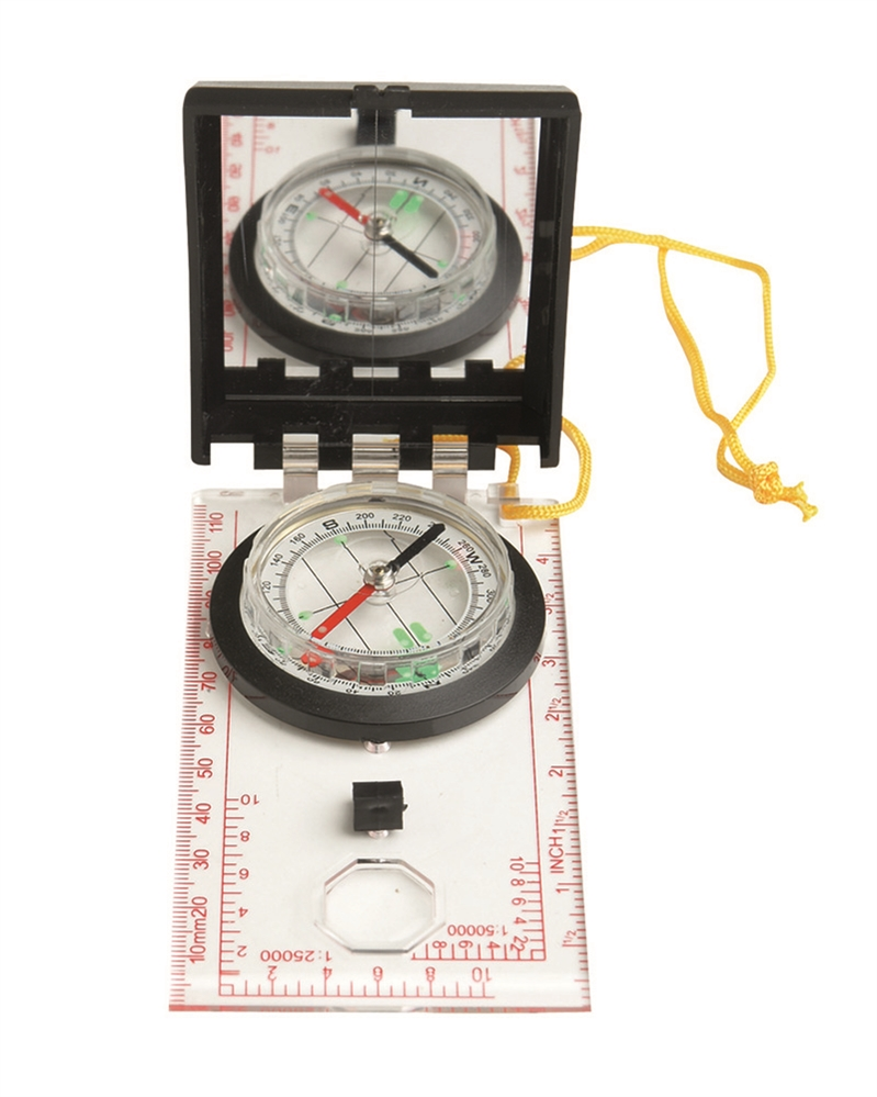 Kompas buzola se zrcátkem