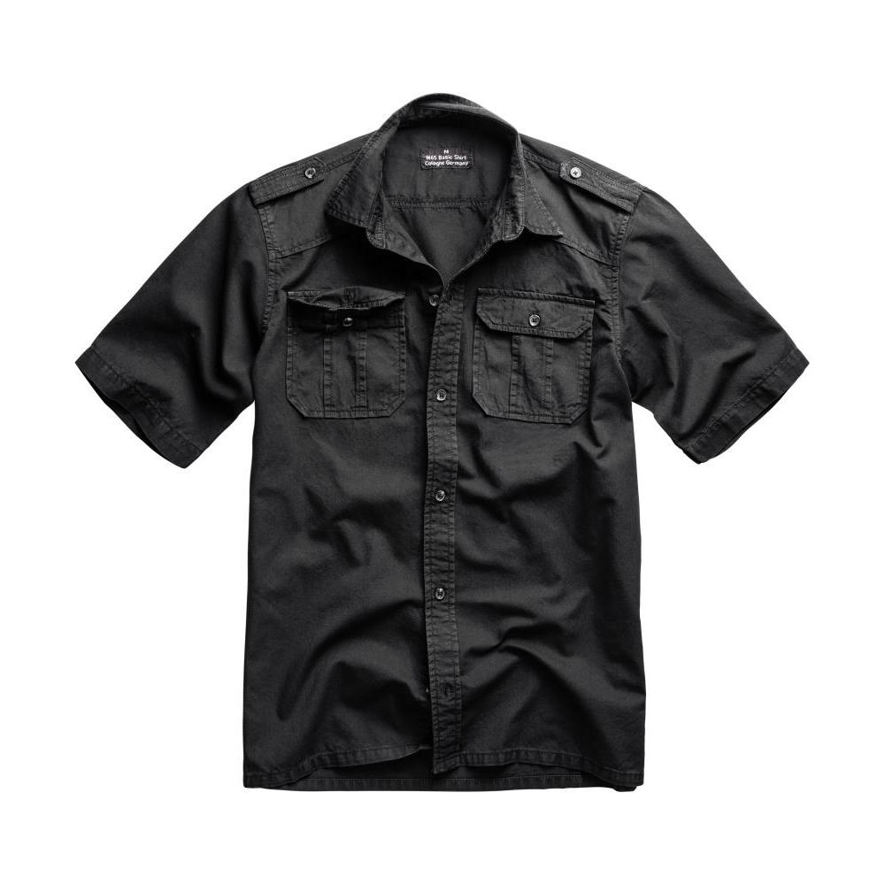 Košile Surplus M65 Basic Shirt s krátkým rukávem - černá