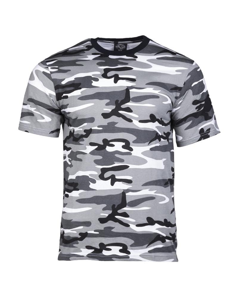 Maskáčové tričko s krátkým rukávem - urban