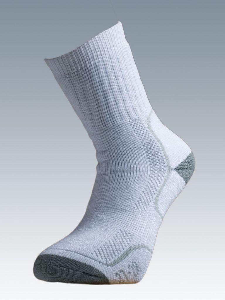 Ponožky se stříbrem Batac Thermo - bílé