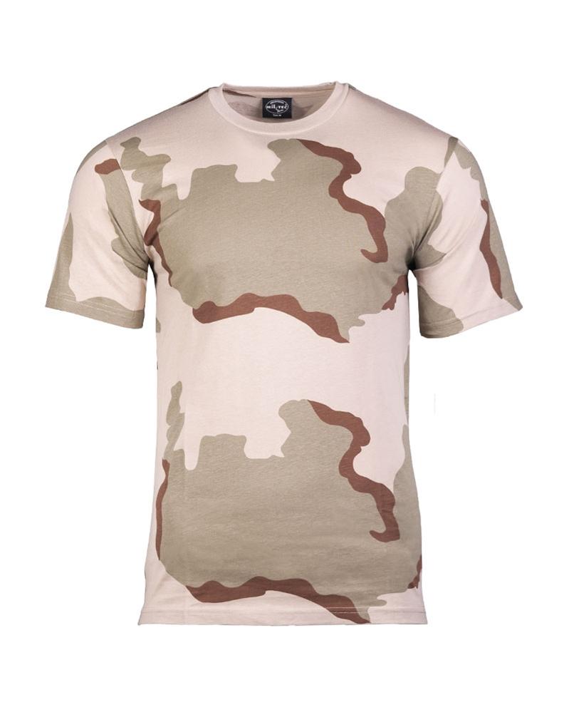 Maskáčové tričko s krátkým rukávem - desert