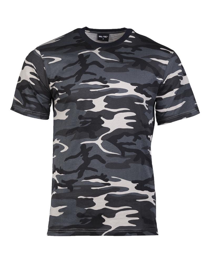 Maskáčové tričko s krátkým rukávem - darkcamo