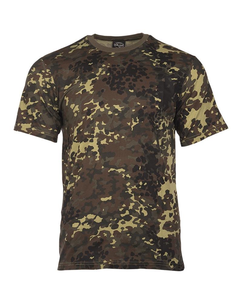 Maskáčové tričko s krátkým rukávem - flecktarn