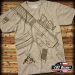 Triko 7.62 Design Get Some - khaki