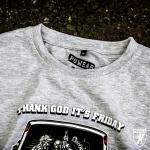 Triko PGwear Thank God Its Friday - šedé