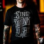 Triko PGwear Sing Drink Fight - černé