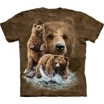 Tričko unisex The Mountain Find 10 Brown Bears - hnědé