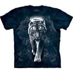 Tričko unisex The Mountain White Tiger Stalk - modré