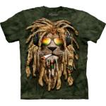 Tričko unisex The Mountain Smokin' Jahman Big Cat - zelené