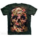 Tričko unisex The Mountain Jungle Skull - zelené