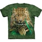 Tričko unisex The Mountain Majestic Leopard - zelené