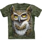Tričko unisex The Mountain Wise Owl - zelené