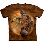Tričko unisex The Mountain Tawny Eagle Spirit - hnědé