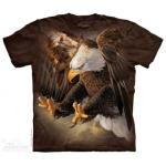 Tričko unisex The Mountain Freedom Eagle - hnedé