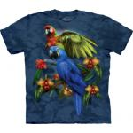 Tričko unisex The Mountain Tropical Friends - modré