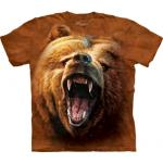 Tričko unisex The Mountain Grizzly Growl - hnedé