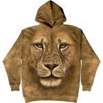 Mikina The Mountain Hoodie Lion Warrior - béžová