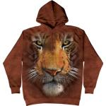 Mikina The Mountain Hoodie Tiger Face - hnědá