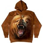 Mikina The Mountain Hoodie Grizzly Growl - hnědá