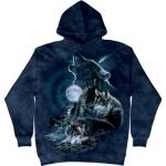 Mikina The Mountain Hoodie Bark At The Moon - modrá