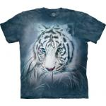 Tričko unisex The Mountain Thoughtful White Tiger - modré