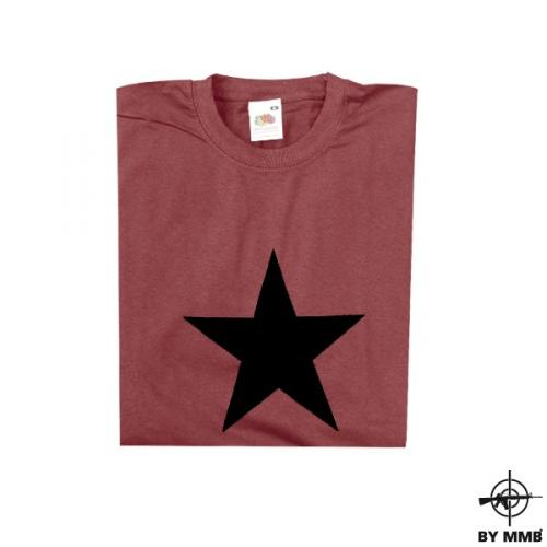 Tričko Black Star - burgundy