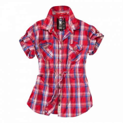 Košeľa Surplus Trooper Check Shirt 1/2 Ladies - červená