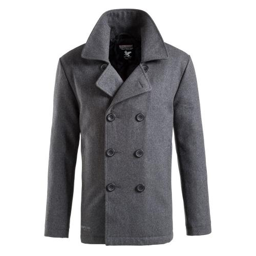 Kabát Surplus Pea Coat - antracitový