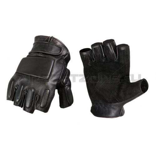 Rukavice Invader Gear Phalanx Leather Gloves Half - čierne